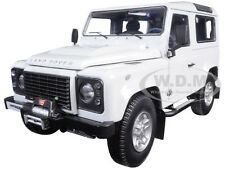1984 LAND ROVER DEFENDER 90 FUJI WHITE 1/18 DIECAST CAR MODEL KYOSHO 08901 FW