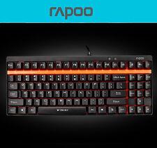 UK Rapoo V500 Black Switch 87 Keys Mechanical Gamer Gaming Keyboard Non Backlit
