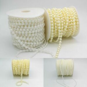 Half Pearl Beads Beige Flatback Beads Pearls String Garment Accessories Supplies