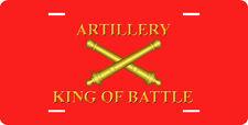 ARTILLERY - KING OF BATTLE FULL SIZE ALUMINUM VANITY FRONT LICENSE PLATE
