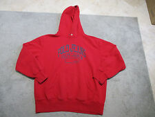 VINTAGE Ralph Lauren Polo Jeans Hoodie Jacket Adult 2XL XXL Red Hooded Sweater H