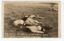 DEAD SOLDIERS IN THE FIELD: Mexican Revolution postcard (C35073)