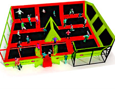 1,300 sqft Commercial Trampoline Park Dodgeball Climb Gym Inflatable We Finance