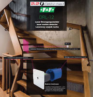 F&F DRL-12 Laser Bewegungsmelder Lichtschranke LED Treppen Stufen Beleuchtung
