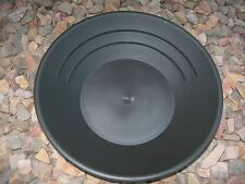 "Gold Pan Panning 10"" High Impact Plastic BLACK Prospecting Mining Sluice NUGGETS"