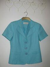 Linen Jacket Aqua Blue, Size 10, BHS Classics