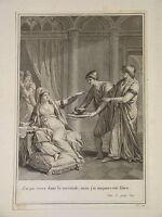 Gravure XVIII DIRECTOIRE SERVITUDE ESCLAVAGE LETTRE PERSANES ORIENTALISTE 1795