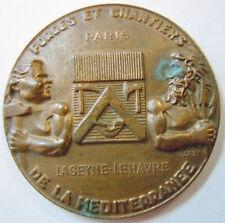 Médaille Navire LE NURITH FORGES CHANTIER MEDITERRANEE LA SEYNE LE HAVRE 1961