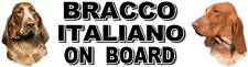 BRACCO ITALIANO ON BOARD Car Sticker by Starprint