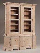 Libreria dispensa in legno al grezzo senza vetri cm 180 x 44 h 230 Nuova Unica