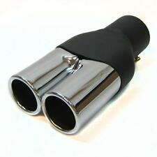 Twin Exhaust Pipes Muffler Chrome Fits Bmw E34 E39 M5 M3 M6 E36 E21 E30 E36 E46