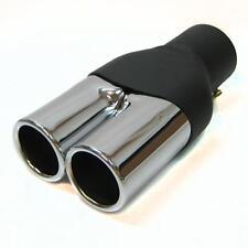 Twin Exhaust Pipes Muffler Chrome Fits Bmw E34 E39 M5 M3 M6 E36 E21 E30 E36 E46