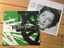 """Program booklet """"dialogue"""" The Green Car 1966"""