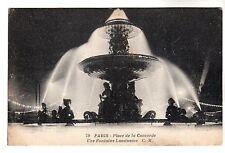 Place De La Concorde - Paris Photo Postcard c1908