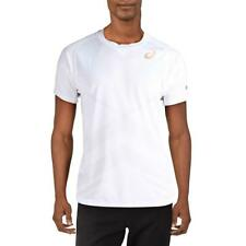 Asics Mens White Fitness Workout Training T-Shirt Athletic L Bhfo 5985