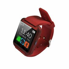 Smart Watch for iOS and Android Bluetooth color black and Red (two straps)