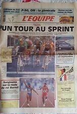 L'Equipe Journal du 10/07/1991; Chiappucci/ PSg-OM/ Senna-Prost/ Sangouma