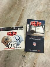 NFL Saints Colts 2010 Super Bowl XLIV Decal with FL visitors Guide - NEW