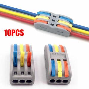 10x SPL-2/3 Line Electrical Connectors Wire Block Clamp Terminal Cable Reusable