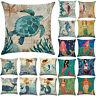 "Ocean Beach Sea Cotton Linen Pillow Case Sofa Throw Cushion Cover Home 18""X18"" D"