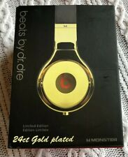 Crystal Rocked Beats Pro By Dre 24ct Gold Plated - Limited Edition - Monster