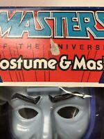 1986 VINTAGE MOTU HE-MAN Ben Cooper Stonedar Costume MIB MASTERs Of The UNIVERSE