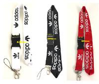 3pcs - Adidas Lanyard Detachable ID Badge Keychain Holder - Free Shipping
