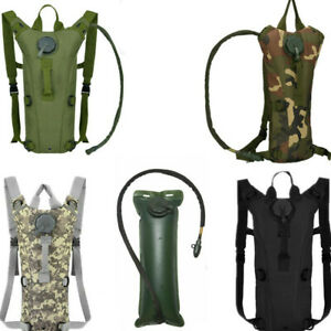 3L Water Backpack Outdoor Bladder Bag Tactical Military Hiking Camping