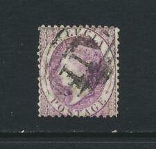 ST LUCIA 1864, 6d VIOLET, VF USED SG#13 CAT£42 (SEE BELOW)