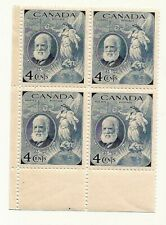 1947 CANADA Alexander Graham Bell postage stamp block C MNH