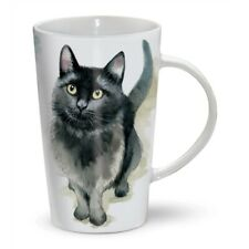 More details for cute black cat tall latte mug   a great gift for a cat lover   free p&p