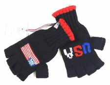 Polo Ralph Lauren Olympic Sochi US USA Flag Wool Sweater Gloves Fingerless L XL