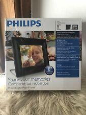 Philips 8-Inch Digital Photo Frame 800x600 Resolution 8FF2FPB  - Black 🌟
