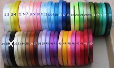 1 bobine de 13m de ruban en satin choix entre 50 coloris