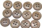 """WWII US plastic buttons 5/8"""" 16mm 24L od greenish brown lot of 12 B7788"""