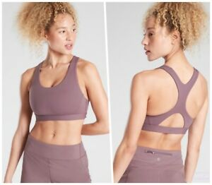 ATHLETA Ultimate Bra D-DD Volcanic Violet M MEDIUM Running Cardio Sports Top NWT