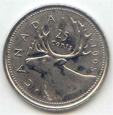 Canada 1995 Quarter Canadian 25c Twenty-five Cents 25 c Caribou EXACT COIN SHOWN
