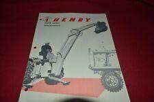 Henry Mark Series Backhoes Dealer's Brochure MFPA2