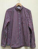 White Stuff Laundered Classics Mens Red White Blue Checked Long Sleeve Shirt Med