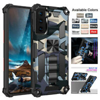 For Samsung Galaxy S21 Ultra S21+ 5G Shockproof Hard Armor Kickstand Case Cover