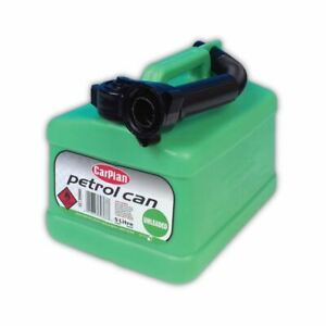 CarPlan Petrol Can Tetra Green Unleaded With Flexible Spout - 5L Litre