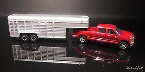1/64 Ertl 2014 Dodge Ram 2500 Crew Cab w/Fifth Wheel Horse Trailer loose