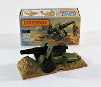 Matchbox Superfast No 32 Field Gun MIB No soldiers Diecast Model