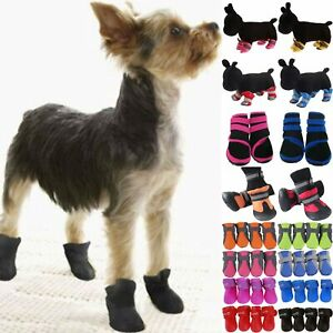 Pet Anti Slip Shoes Dog Protective Rain Booties Sock Outdoor Winter Warm Boots.
