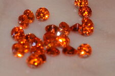 ***Flawless***3mm IF Brilliant Cut Simulated Orange Diamond