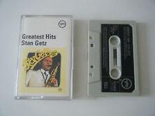 STAN GETZ GREATEST HITS CASSETTE TAPE 1969 GREEN PAPER LABEL VERVE UK