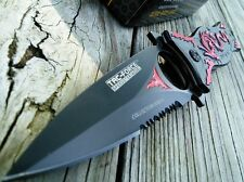 """7.5"""" TAC FORCE SPRING ASSIST RED DRAGON TACTICAL FOLDING KNIFE BLADE OPEN Switch"""