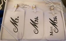 Mr & Mrs Luggage Tags - Fun Luggage Tags For The New Bride And Groom (Set Of 3)