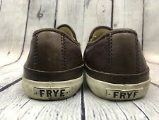 Frye Men's Gavin Slip On Brown Leather Shoes Sneakers Size 8