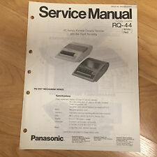 Original Panasonic Service Manual for Rq model Cassette Players ~ Select One